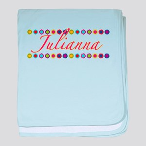 Julianna with Flowers baby blanket