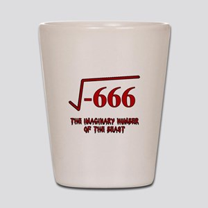 Imaginary Number of the Beast Shot Glass