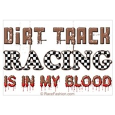 Dirt Track Racing Blood Canvas Art