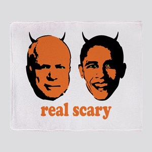 Real Scary Politics Throw Blanket