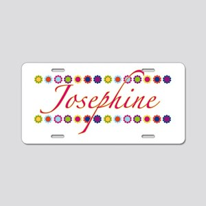 Josephine with Flowers Aluminum License Plate