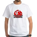Knoxville Skatepark Round Logo White T-Shirt