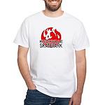 Knoxville Skatepark Round Logo White T-Shirt