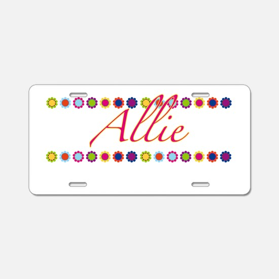 Allie with Flowers Aluminum License Plate