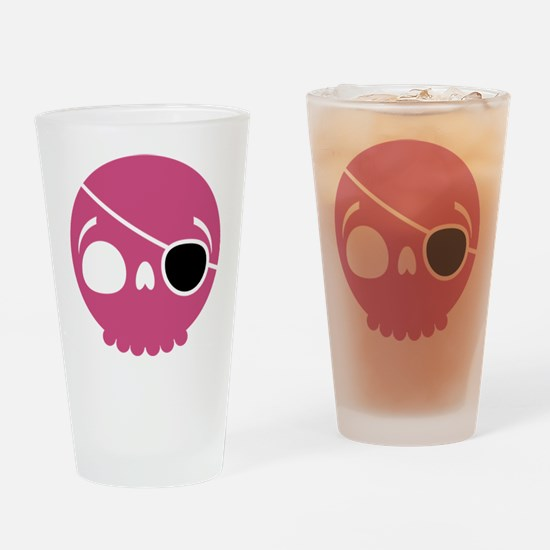 Pinkskull the Pirate Drinking Glass