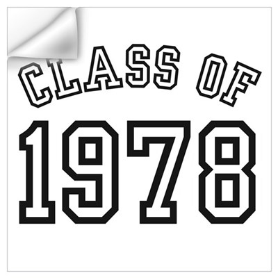 class of 1978 wall decal