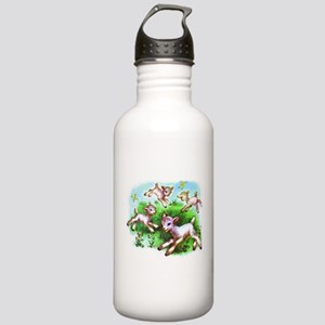 Cute Sheep Baby Lambs Stainless Water Bottle 1.0L