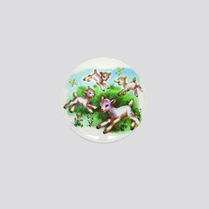 Cute Sheep Baby Lambs Mini Button