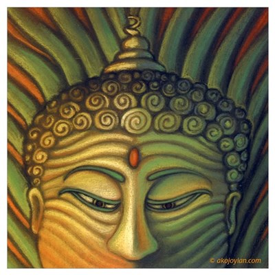 Golden Buddha Canvas Art
