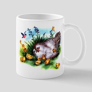 Mother Hen Yellow Chicks Mug