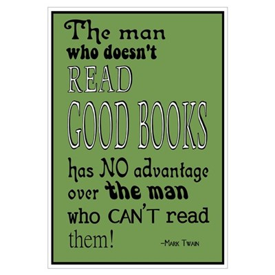 Twain Good Books Green Framed Print