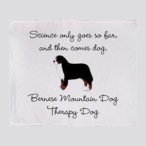 Bernese Therapy Dog Throw Blanket