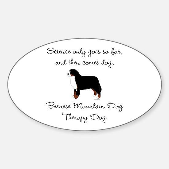 Bernese Therapy Dog Sticker (Oval)