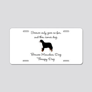 Bernese Therapy Dog Aluminum License Plate