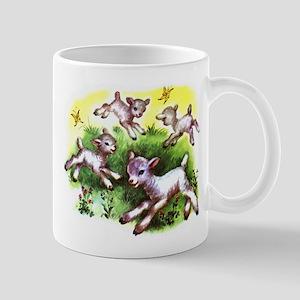 Funny Lambs White Sheep Mug