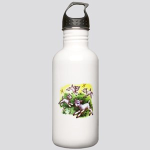Funny Lambs White Sheep Stainless Water Bottle 1.0
