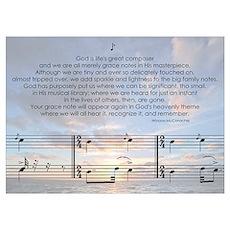 God's Grace Notes Poster