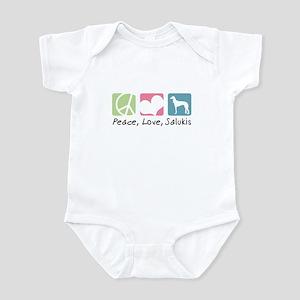 Peace, Love, Salukis Infant Bodysuit