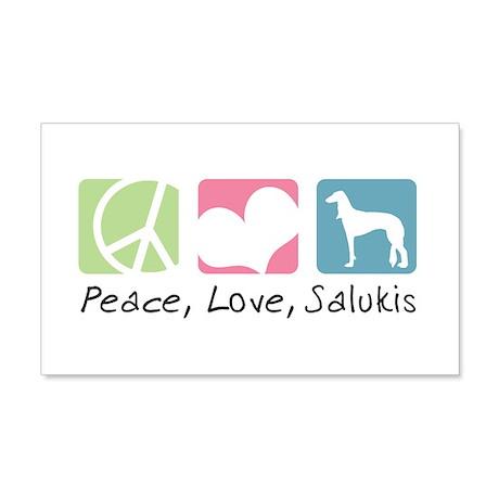 Peace, Love, Salukis 22x14 Wall Peel