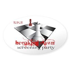 Breaking Dawn Screening Party Sticker (Oval 10 pk)