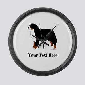 Berner - Your Text Large Wall Clock