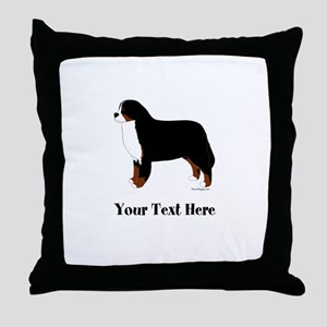 Berner - Your Text Throw Pillow