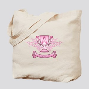 Pink Survivor Trophy Tote Bag