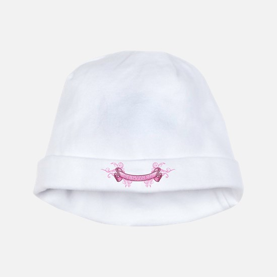 Pink Survivor Trophy baby hat