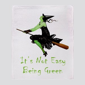 It's Not Easy Being Green Throw Blanket