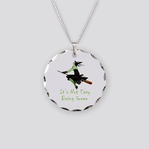 It's Not Easy Being Green Necklace Circle Charm