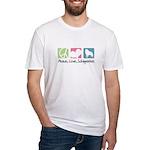 Peace, Love, Schipperkes Fitted T-Shirt
