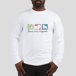 Peace, Love, Schipperkes Long Sleeve T-Shirt