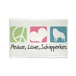 Peace, Love, Schipperkes Rectangle Magnet (100 pac