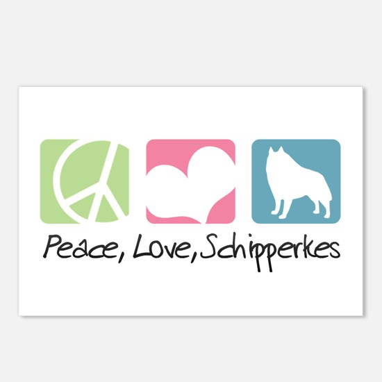 Peace, Love, Schipperkes Postcards (Package of 8)