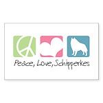 Peace, Love, Schipperkes Sticker (Rectangle 50 pk)