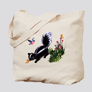 Cute Baby Skunk Tote Bag
