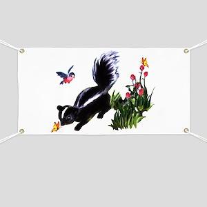 Cute Baby Skunk Banner