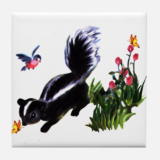 Cute Baby Skunk Tile Coaster