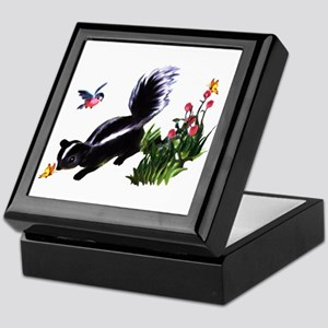 Cute Baby Skunk Keepsake Box