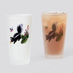 Cute Baby Skunk Drinking Glass