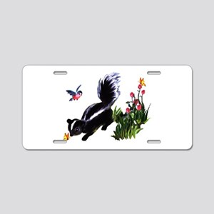 Cute Baby Skunk Aluminum License Plate