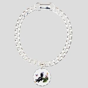 Cute Baby Skunk Charm Bracelet, One Charm
