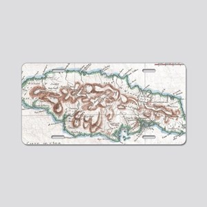 Vintage Map of Jamaica (178 Aluminum License Plate