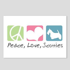 Peace, Love, Scotties Postcards (Package of 8)