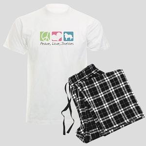 Peace, Love, Shelties Men's Light Pajamas