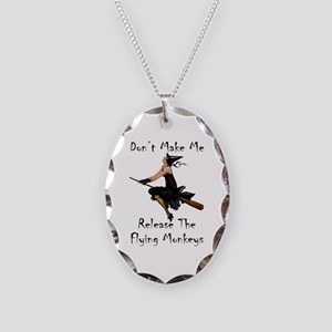Don't Make Me Release The Flyi Necklace Oval Charm