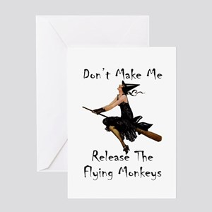 Don't Make Me Release The Flying Mon Greeting Card