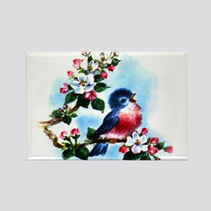 Vintage Bluebird Art Rectangle Magnet