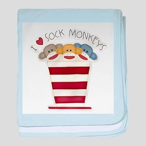 Love Sock Monkeys baby blanket