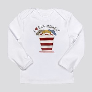 Love Sock Monkeys Long Sleeve Infant T-Shirt